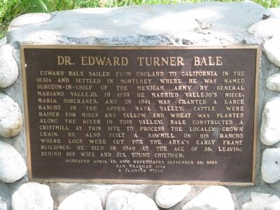 Dr. Edward Turner Bale Marker image. Click for full size.