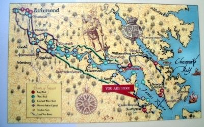 Captain John Smith's Trail on the James is a 40-site water trail and auto tour for modern explorers. image. Click for full size.