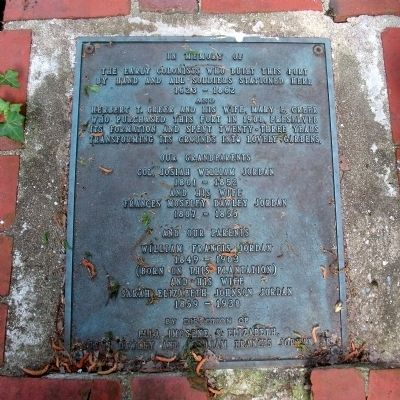 Greer Garden Plaque. image. Click for full size.