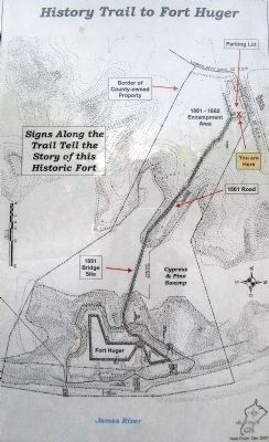 History Trail to Fort Huger image. Click for full size.