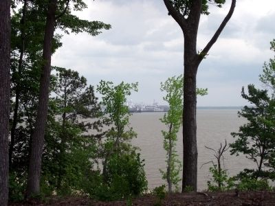 "View of the James River ""Ghost Fleet"" from Fort Huger. image. Click for full size."
