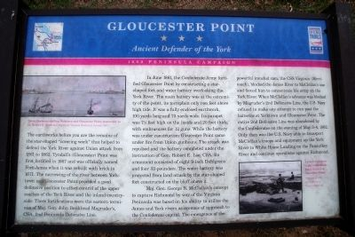Gloucester Point CWT Marker image. Click for full size.