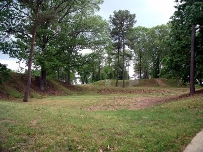 Remains of the star-fort at Gloucester Point. image. Click for full size.