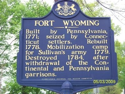 Fort Wyoming Marker image. Click for full size.