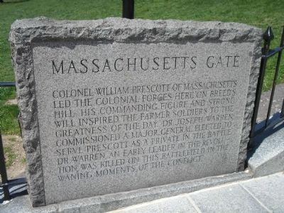 Massachusetts Gate Marker image. Click for full size.