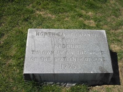 North-East Corner of the Redoubt Marker image. Click for full size.