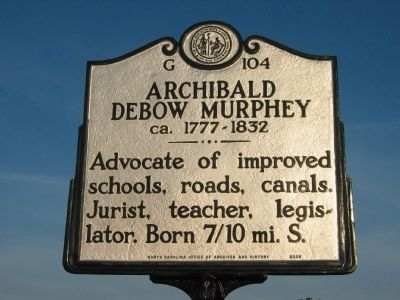 Archibald Debow Murphey (ca. 1777 - 1832) image. Click for full size.