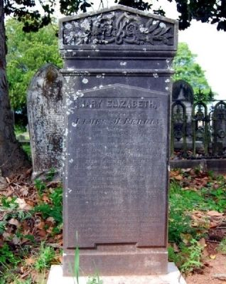 Mary Elizabeth Perrin<br>Long Cane Cemetery, Abbeville, SC image. Click for full size.