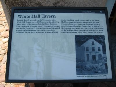 White Hall Tavern Marker image. Click for full size.