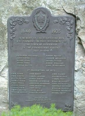 Founders and Proprietors Monument Marker image. Click for full size.
