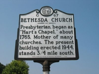 Bethesda Church Marker image. Click for full size.