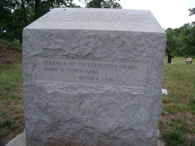 Marker dedication. image. Click for full size.