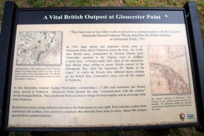 A Vital British Outpost at Gloucester Point Marker image. Click for full size.