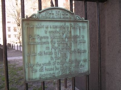 Paul Revere Buried in this Ground Marker image. Click for full size.