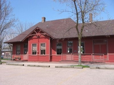Restored Kendall Train Depot image. Click for full size.