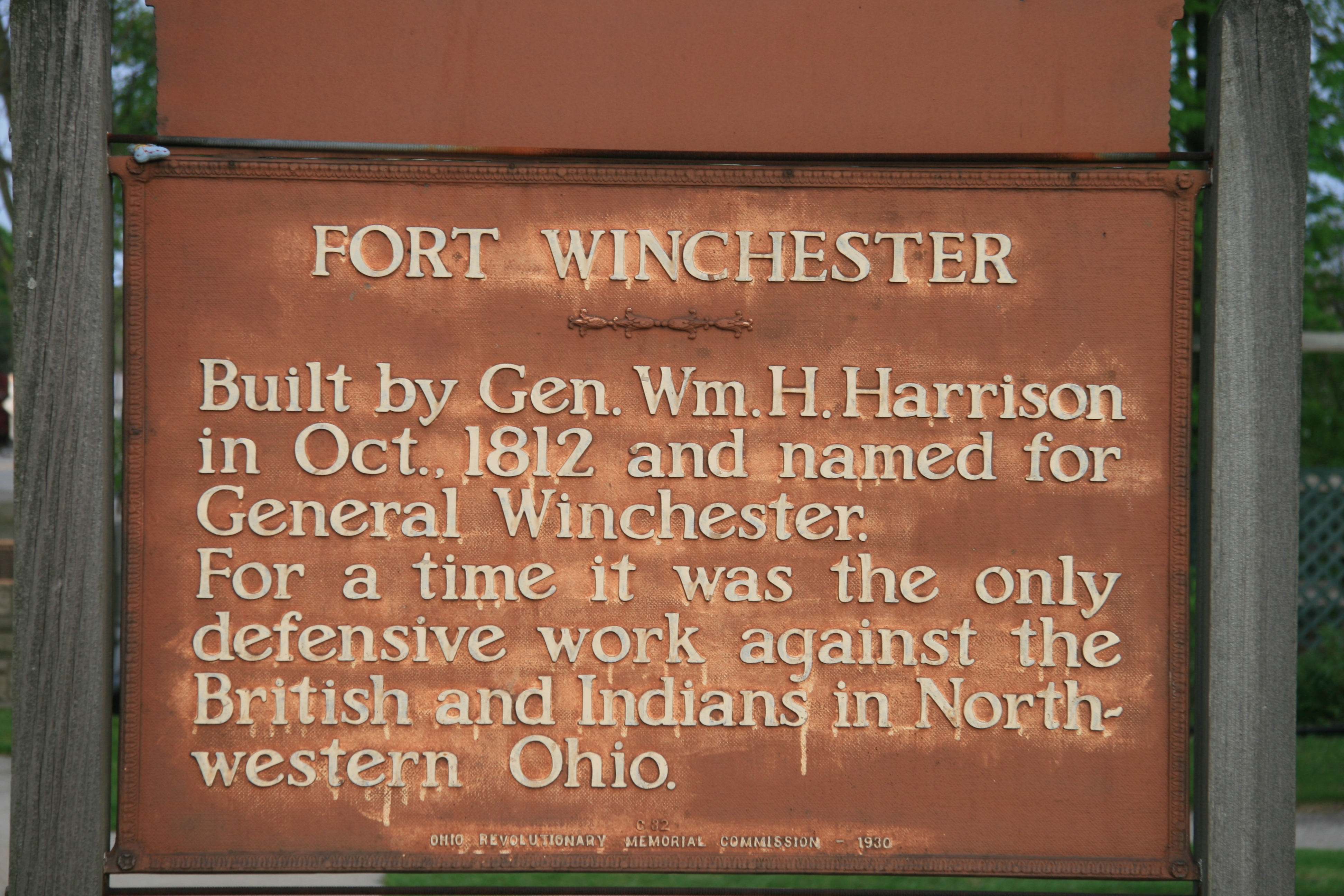 Fort Winchester Marker