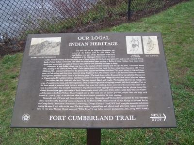 Our Local Indian Heritage Marker image. Click for full size.