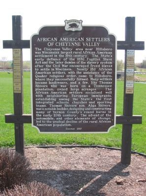 African American Settlers of Cheyenne Valley Marker image. Click for full size.