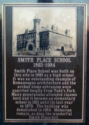 Smith Place School Marker image. Click for full size.