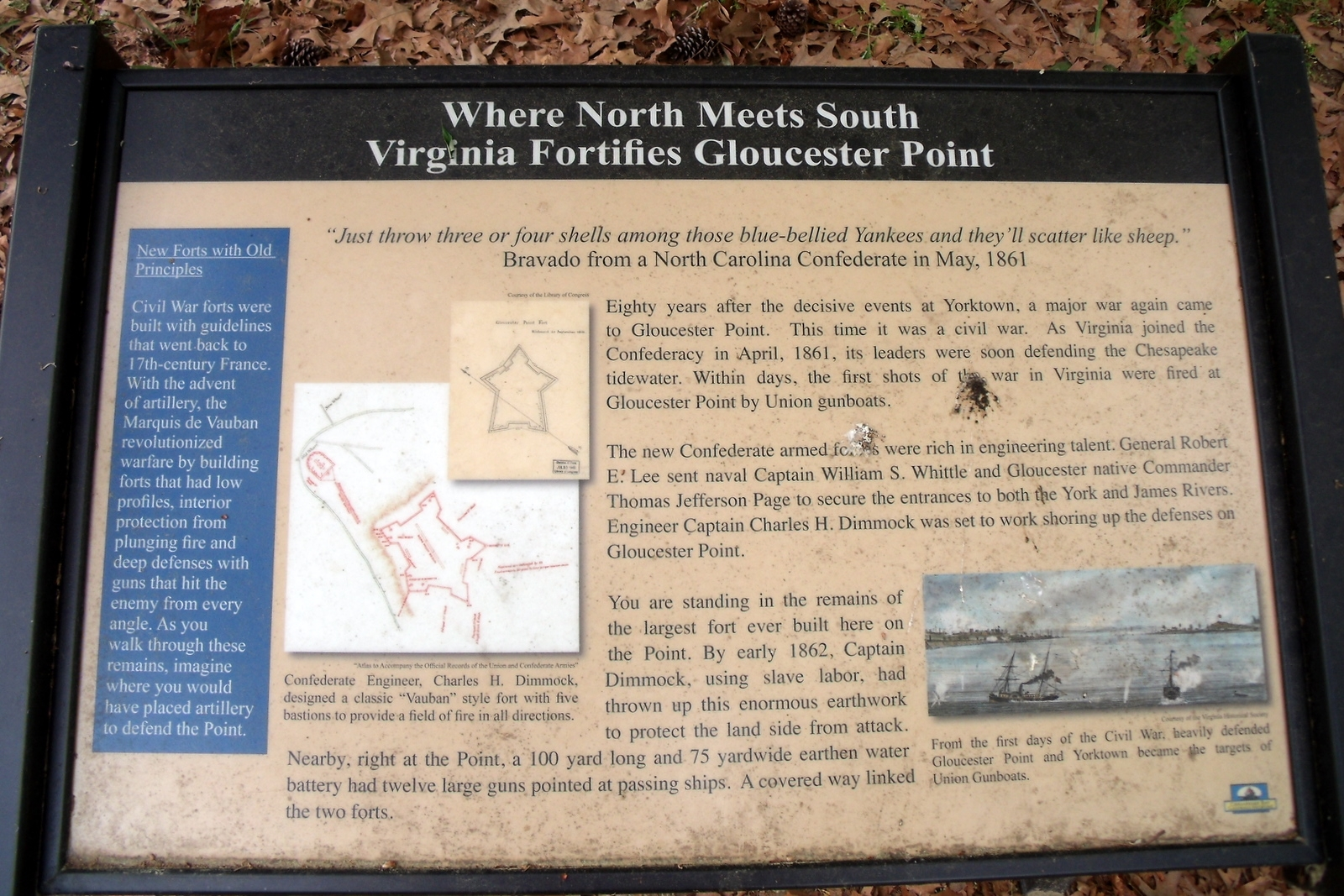 Where North Meets South Marker