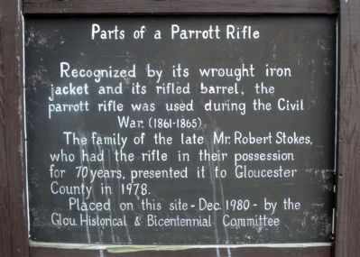 Parts of a Parrott Rifle. image. Click for full size.