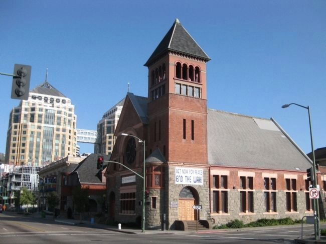 First Unitarian Church of Oakland - View from NW image. Click for full size.
