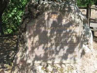 Site of Yount's Blockhouse Marker image. Click for full size.