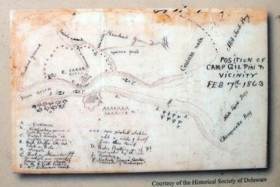 Position of Camp Gilpin & Vicinity, Feb 7, 1863. image. Click for full size.