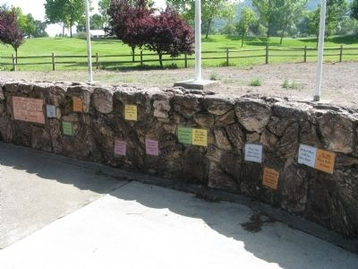 Stone Wall at Marker Location image. Click for full size.