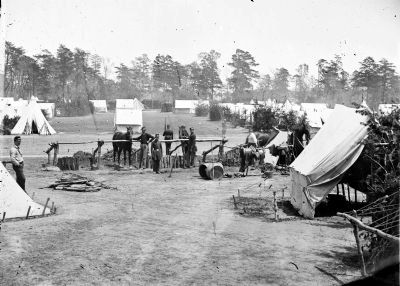 Yorktown, Va., vicinity. Headquarters of Gen. George B. McClellan, Camp Winfield Scott. image. Click for full size.