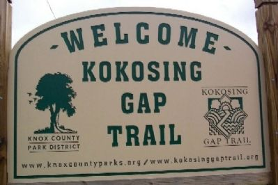 Kokosing Gap Trail Sign image. Click for full size.