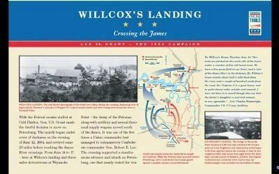 Wilcox's Landing Marker PDF. image. Click for full size.