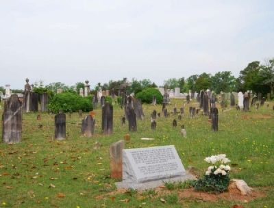 First Burial in Long Cane Cemetery Marker Vicinity image. Click for full size.