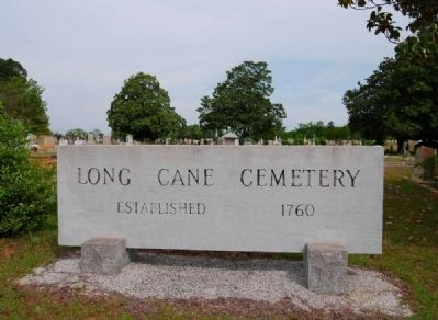 Long Cane Cemetery Sign image. Click for full size.