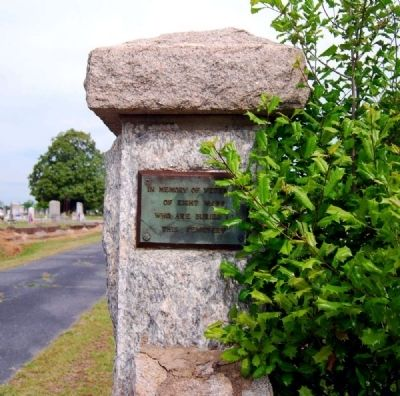 Long Cane Cemetery -<br>Right Entrance Post image. Click for full size.