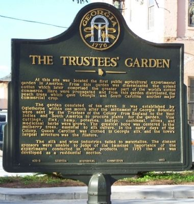 The Trustees' Garden Marker image. Click for full size.
