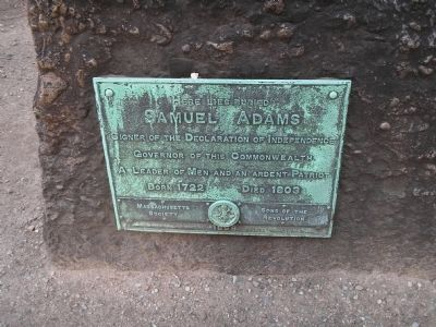 Grave of Samuel Adams image. Click for full size.