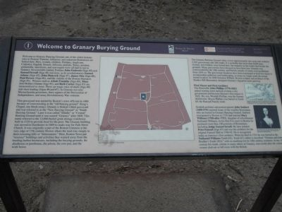 Welcome to Granary Burying Ground Marker image. Click for full size.