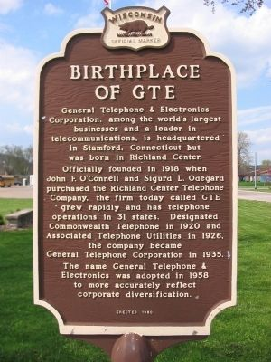 Birthplace of GTE Marker image. Click for full size.