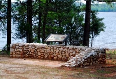 Capture of Fort Charlotte Marker -<br>Lake Thurmond in the Background image. Click for full size.
