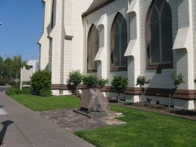First Presbyterian Church Building and Marker image. Click for full size.