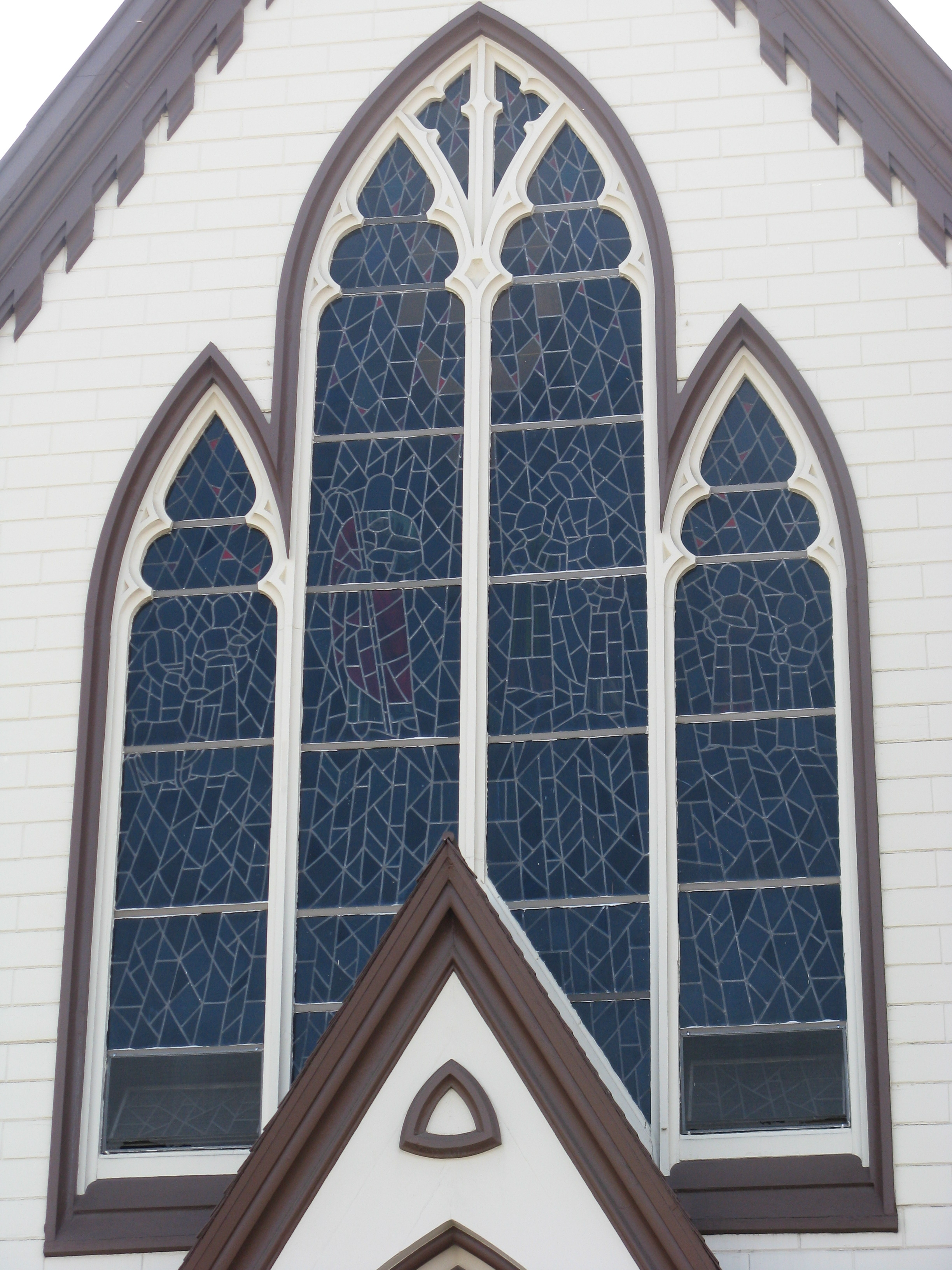 Stained Glass Window Over Entrance Doors
