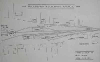Middleburgh & Schoharie Yard image. Click for full size.