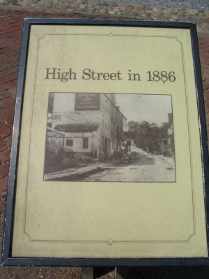 High Street in 1886 Marker image. Click for full size.