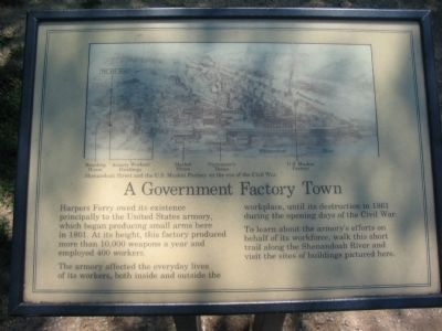 A Government Factory Town Marker image. Click for full size.