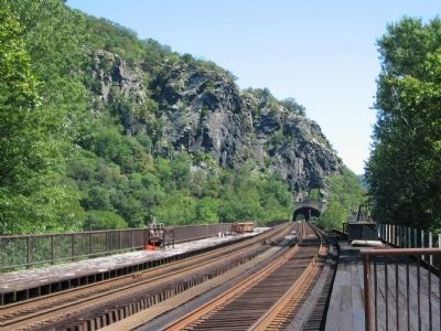 Railroad at Harpers Ferry image. Click for full size.