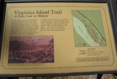 Virginius Island Trail Marker image. Click for full size.