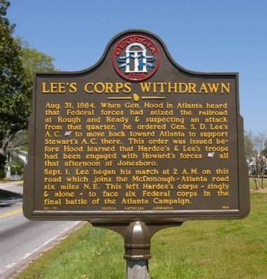 Lee's Corps Withdrawn Marker image. Click for full size.