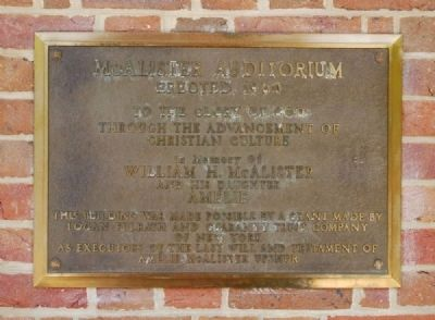 McAlister Auditorium Marker image. Click for full size.