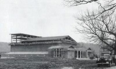 Construction of McAlister Auditorium image. Click for full size.